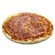 Pizza tonda rossa